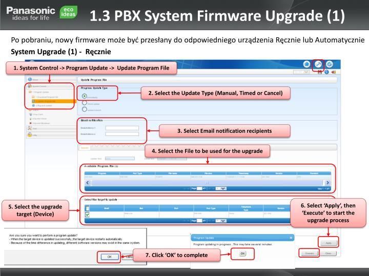 1.3 PBX System Firmware Upgrade (1)