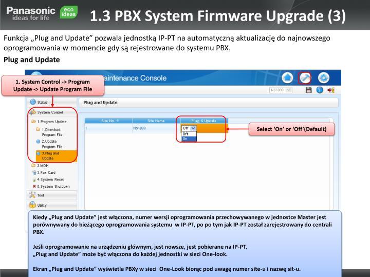 1.3 PBX System Firmware Upgrade (3)