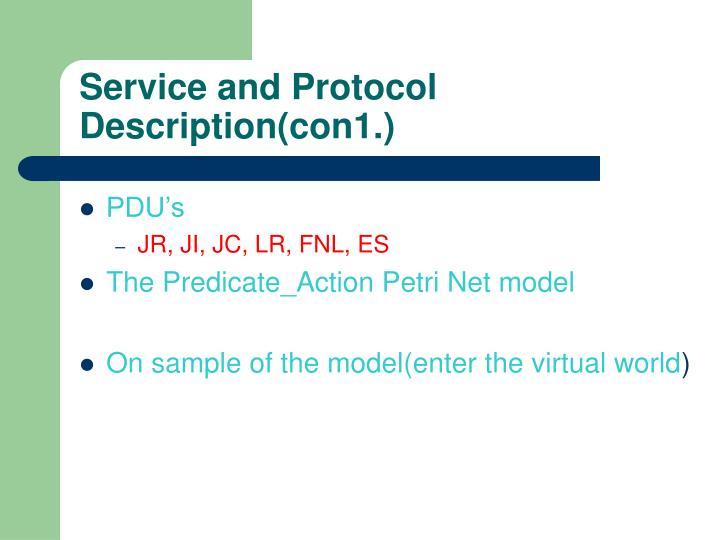Service and Protocol Description(con1.)