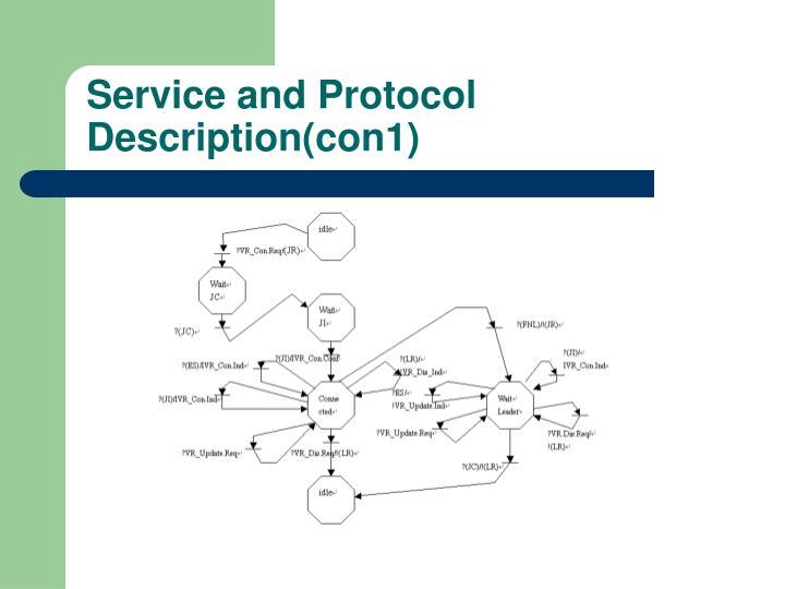 Service and Protocol Description(con1)
