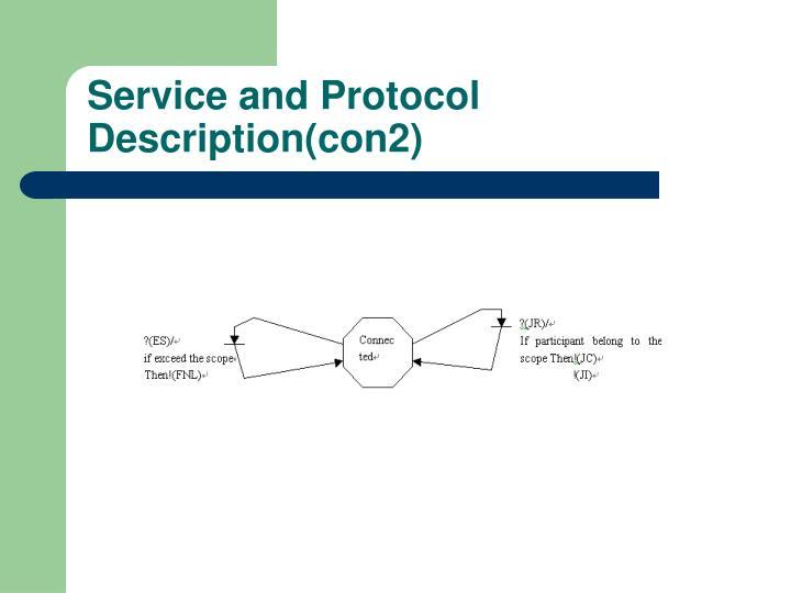 Service and Protocol Description(con2)