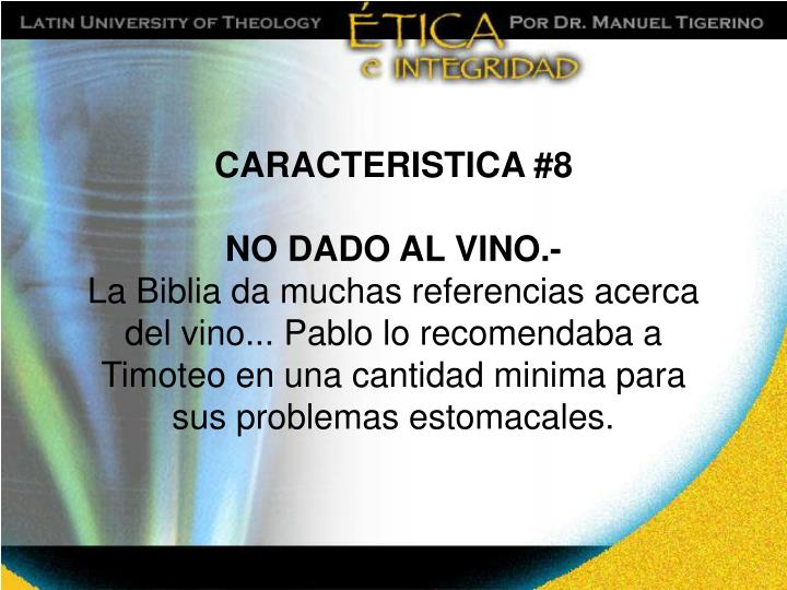 CARACTERISTICA #8