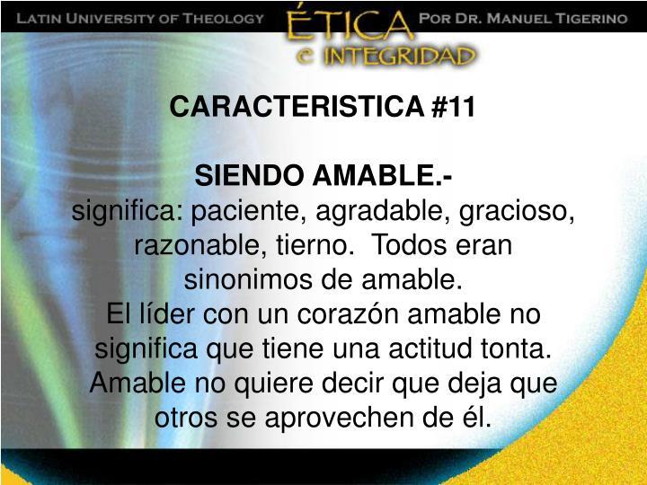 CARACTERISTICA #11