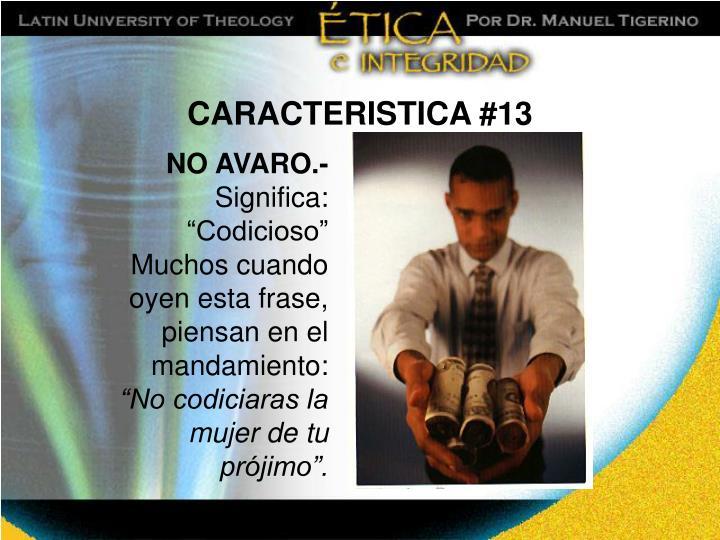 CARACTERISTICA #13