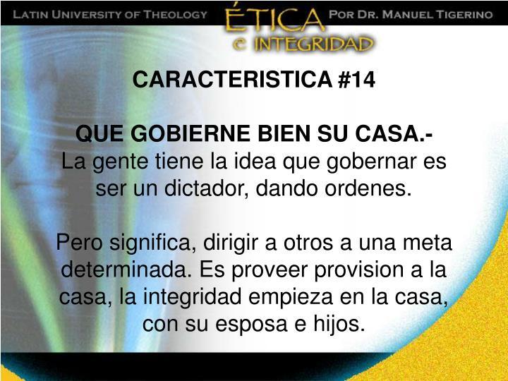 CARACTERISTICA #14