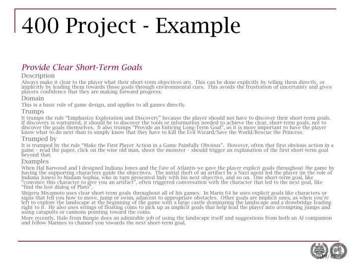 400 Project - Example