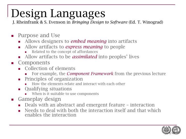 Design Languages