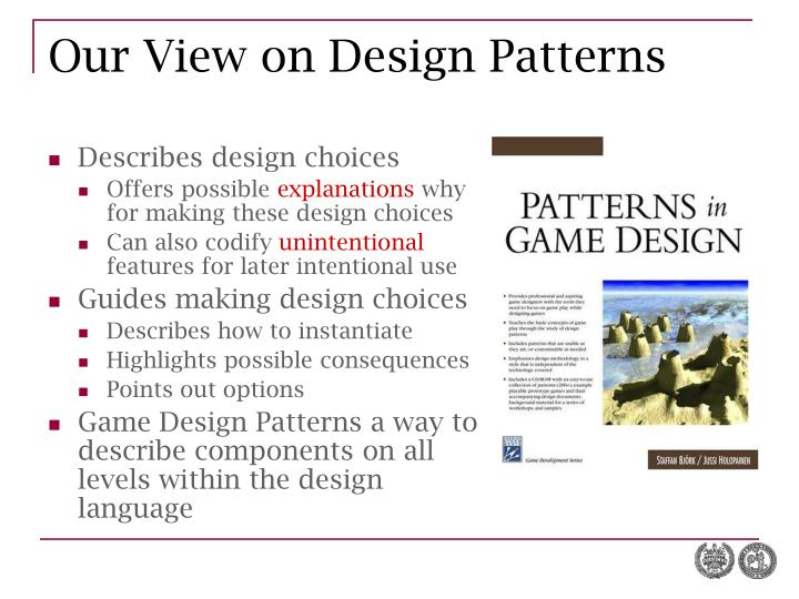 Our View on Design Patterns