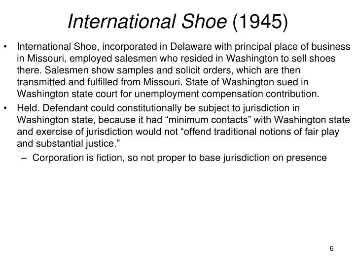 International Shoe