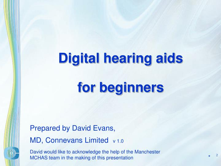 Digital hearing aids for beginners