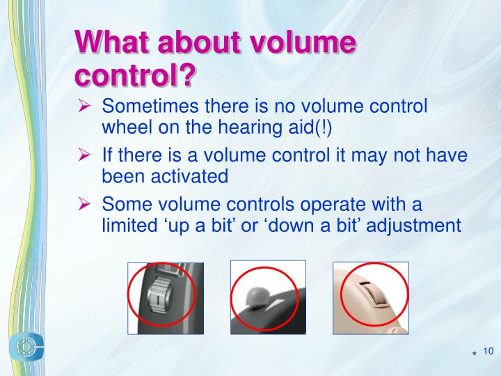 What about volume control?