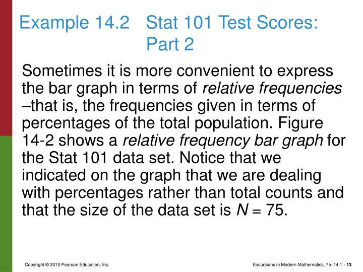 Example 14.2Stat 101 Test Scores: Part 2
