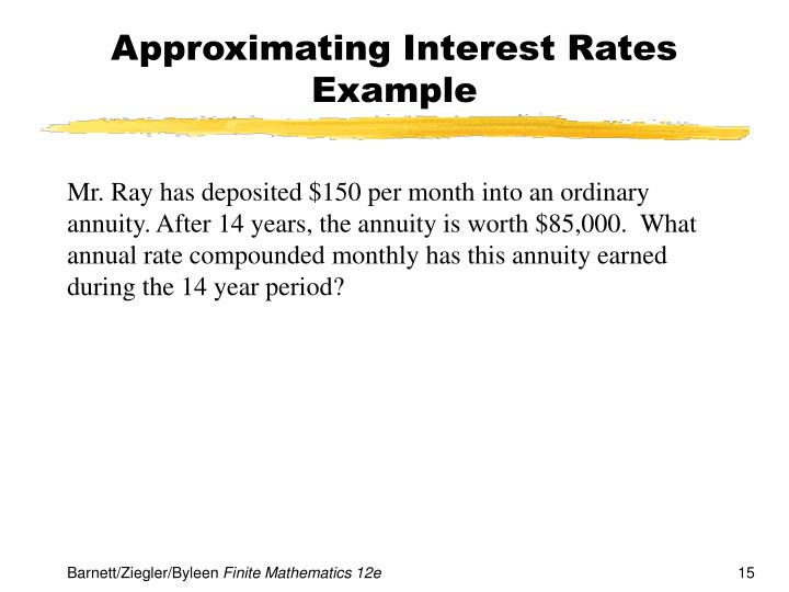 Approximating Interest Rates