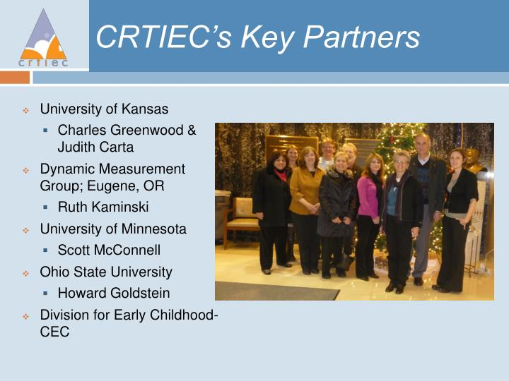 CRTIEC's Key Partners