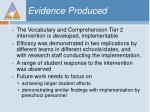 evidence produced