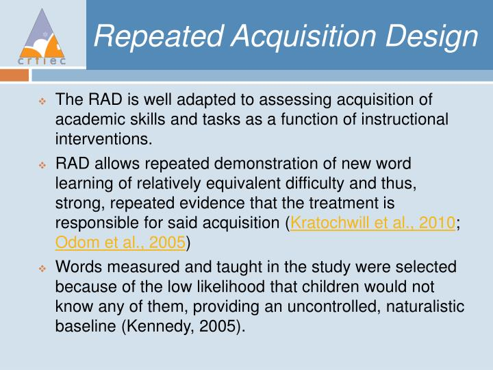 Repeated Acquisition Design