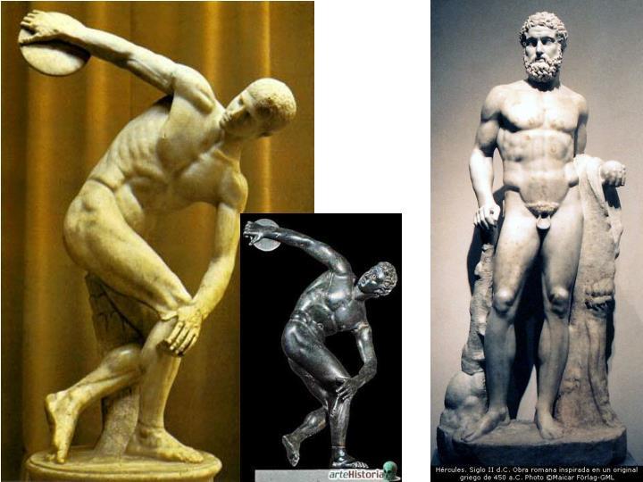 Grecia clásica, severo. Discóbolo y Heracles