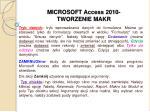 microsoft access 2010 tworzenie makr3