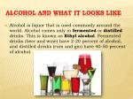 alcohol and what it looks like
