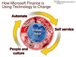 how microsoft finance is using technology to change