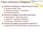 power of business intelligence