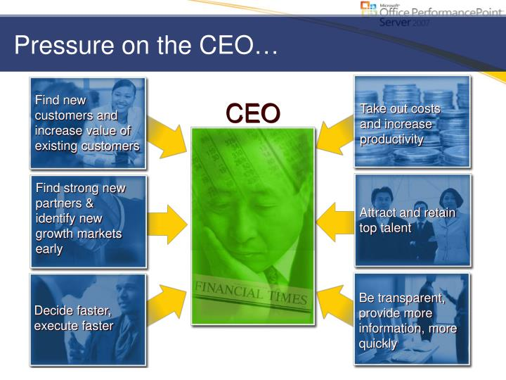 Pressure on the CEO…