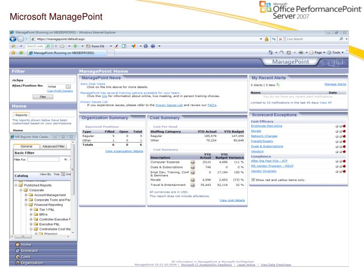 Microsoft ManagePoint