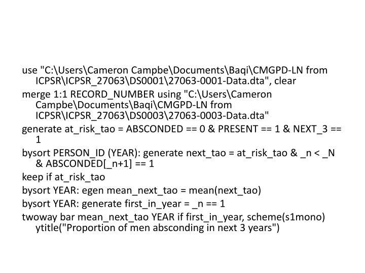 "use ""C:\Users\Cameron"