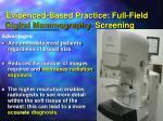 evidenced based practice full field digital mammography screening
