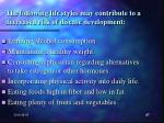 the following life styles may contribute to a decreased risk of disease development