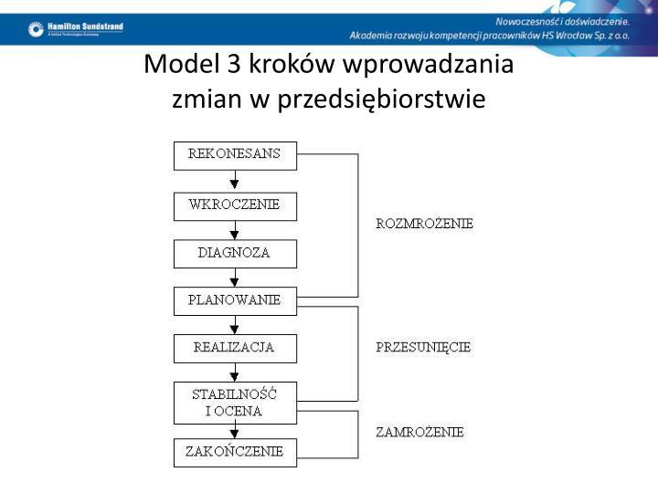 Model 3 kroków wprowadzania