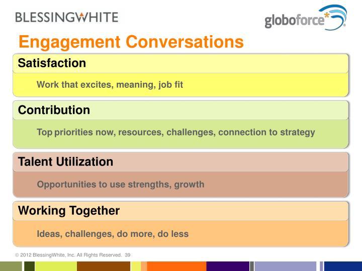 Engagement Conversations