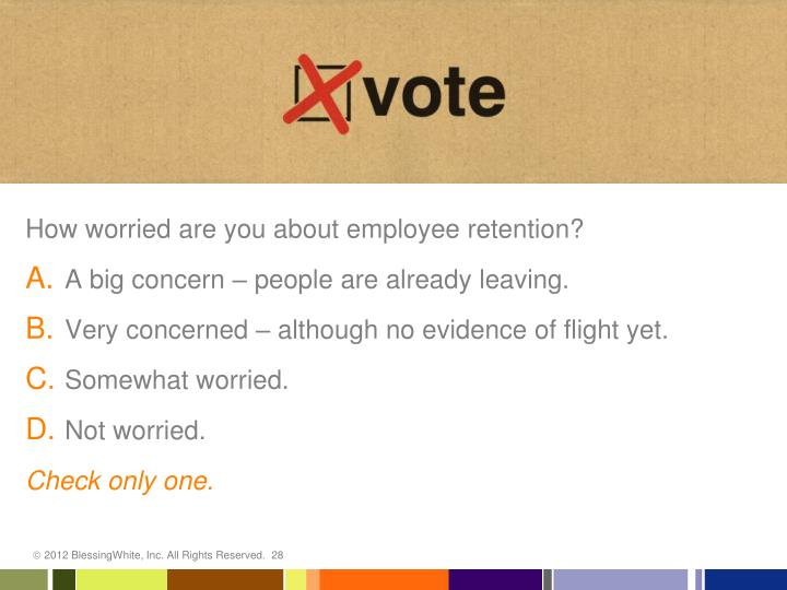 How worried are you about employee retention?