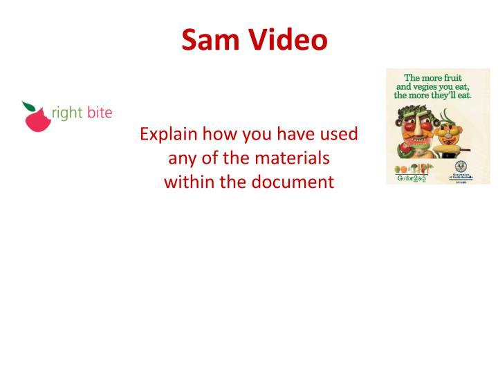Sam Video