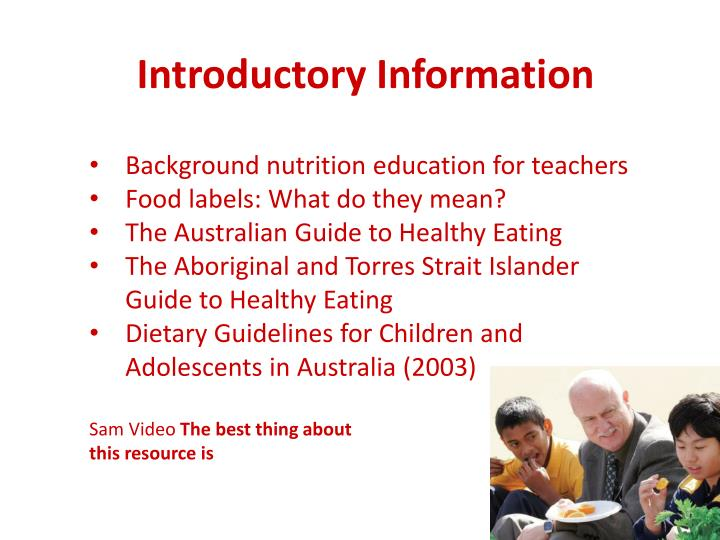 Introductory Information