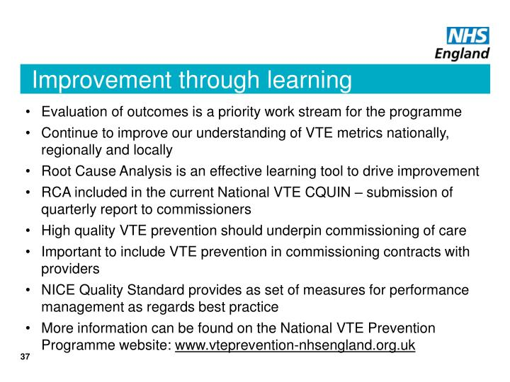 Improvement through learning
