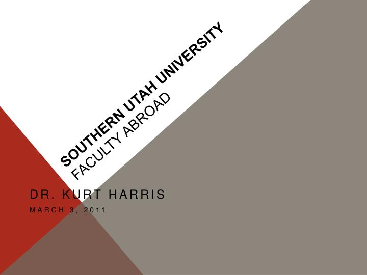 Southern utah university faculty abroad