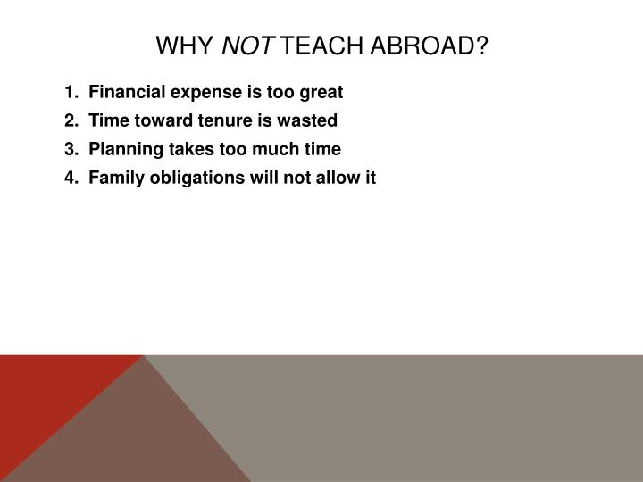 Why not teach abroad