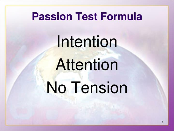 Passion Test Formula