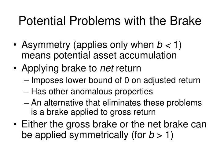 Potential Problems with the Brake