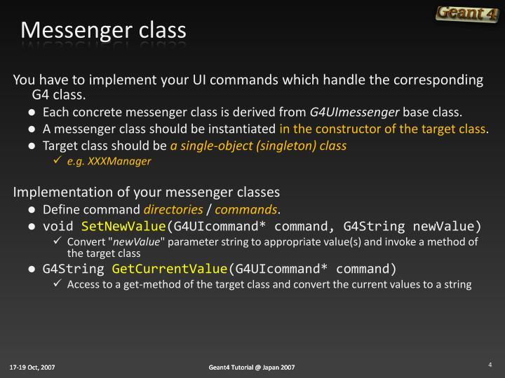 Messenger class