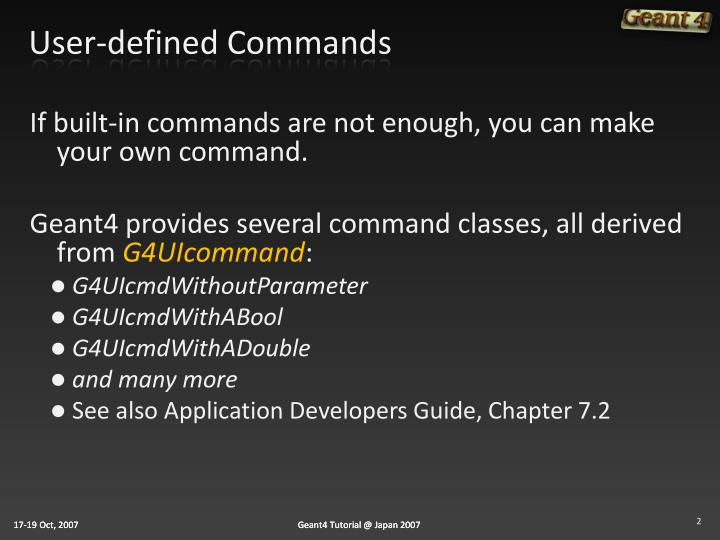 User-defined Commands