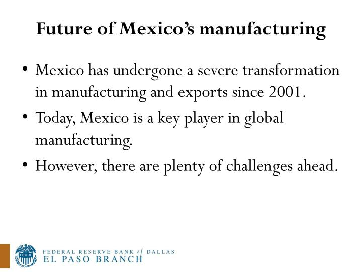 Future of Mexico's manufacturing