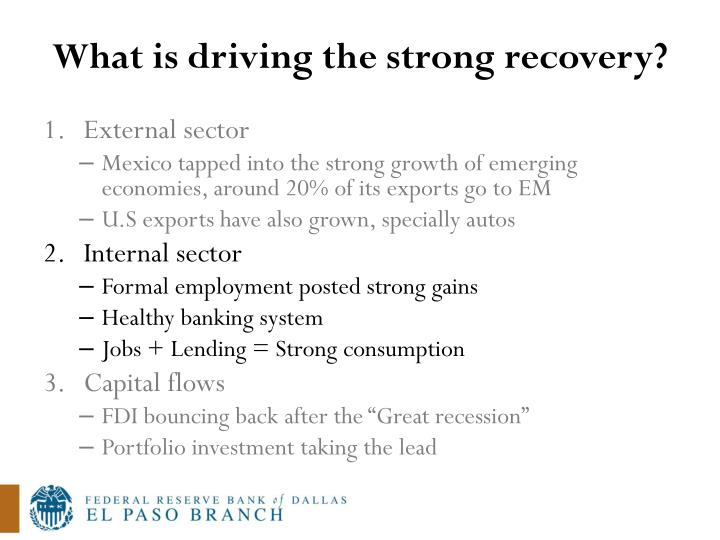 What is driving the strong recovery?