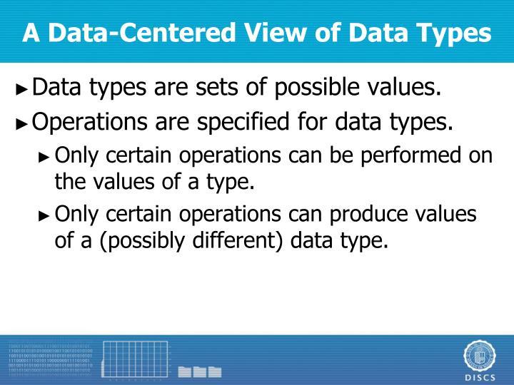 A Data-