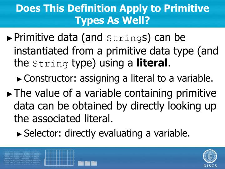Does This Definition Apply to Primitive Types As Well?