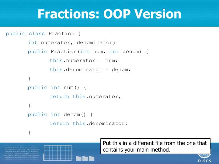 Fractions: OOP Version
