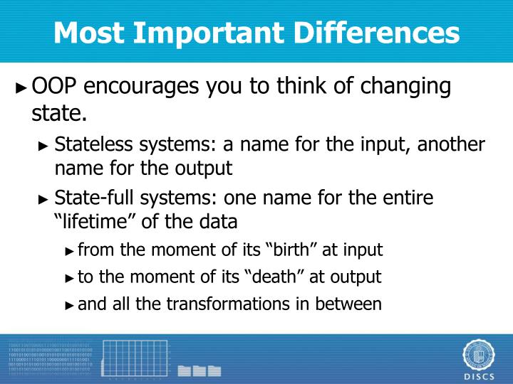 Most Important Differences