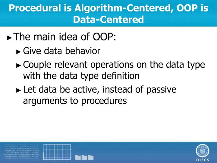 Procedural is Algorithm-