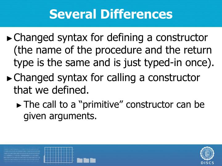 Several Differences